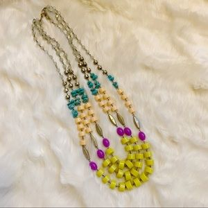 Anthropologie multicolored beaded necklace